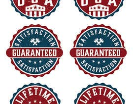 "#19 untuk Design 3 badges for website, ""Made in America"", ""Satisfaction Guaranteed"" and ""Lifetime Warranty"" oleh reddmac"