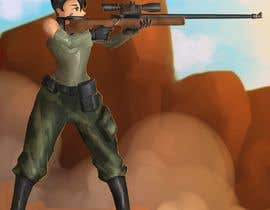 nº 60 pour Female soldier character illustration with background par olivergerado32