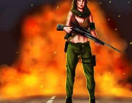 nº 8 pour Female soldier character illustration with background par jasongcorre