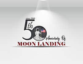 #39 for Logo for 50th anniversary of moon landing by shompa28