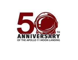#20 for Logo for 50th anniversary of moon landing by RaufIndoImage