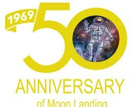 #42 for Logo for 50th anniversary of moon landing by sachinray823
