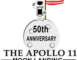 #2 for Logo for 50th anniversary of moon landing af DavidShenron