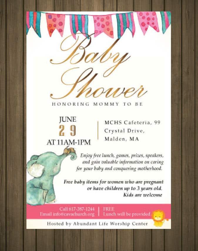 Penyertaan Peraduan #36 untuk Baby shower flyer