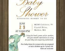 #36 untuk Baby shower flyer oleh petersamajay
