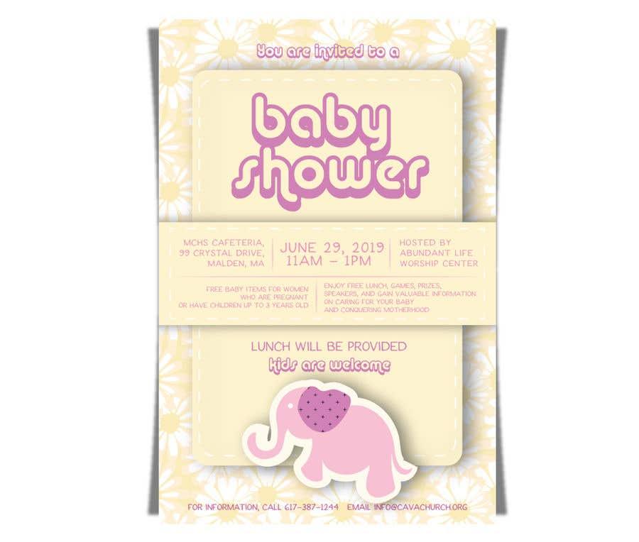 Penyertaan Peraduan #46 untuk Baby shower flyer