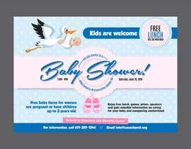 #87 untuk Baby shower flyer oleh jamiu4luv