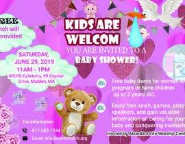 #85 untuk Baby shower flyer oleh Onitaislam