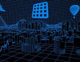 #7 for Sketch of 3d grid landscape with field of data af mrsi