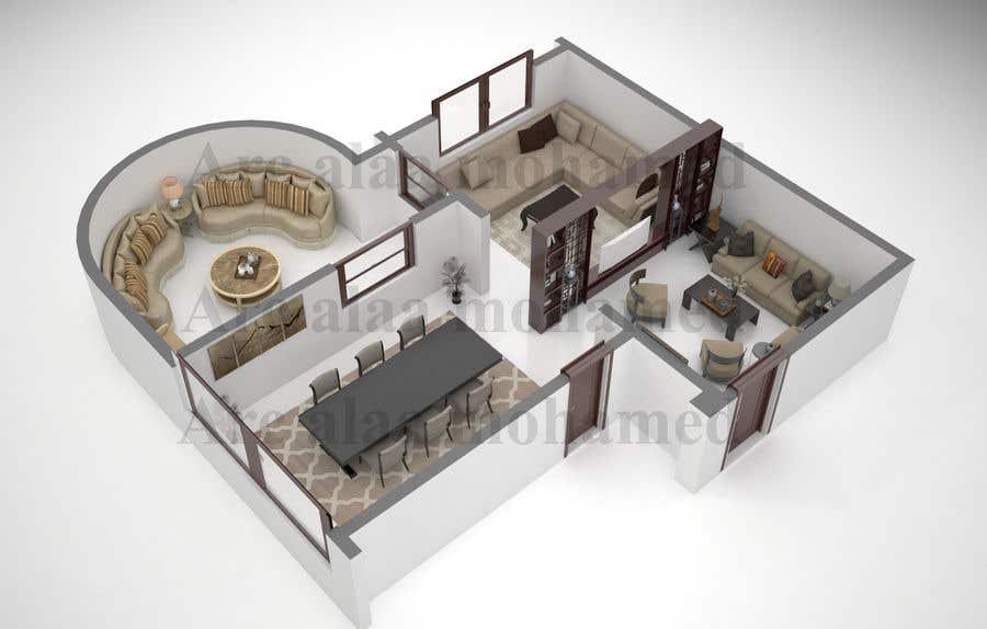 Inscrição nº 11 do Concurso para Furniture Layour for Livin and Dining Room in a flat