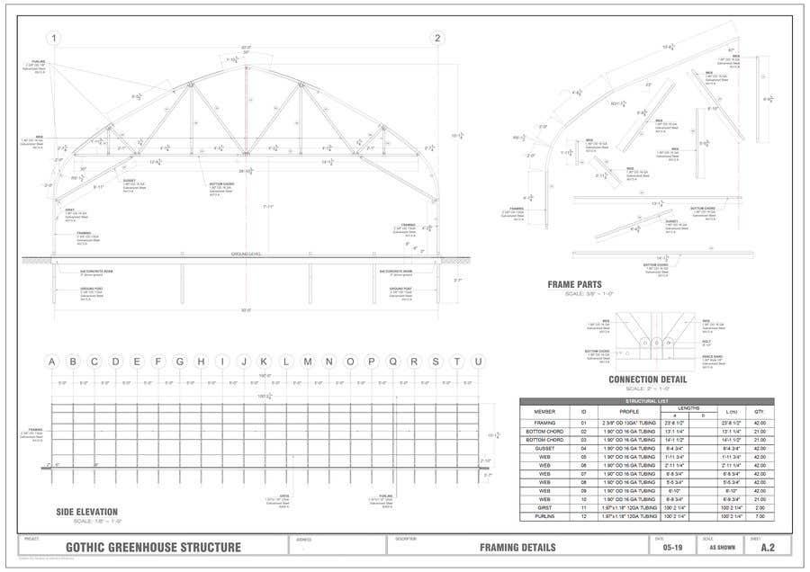 Inscrição nº 2 do Concurso para Greenhouse AUTOCAD Parts Production