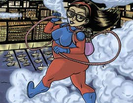 #30 untuk Cartoon digital painting of my best friend in Superhero mode oleh D3baser