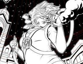 #22 untuk Cartoon digital painting of my best friend in Superhero mode oleh elialex