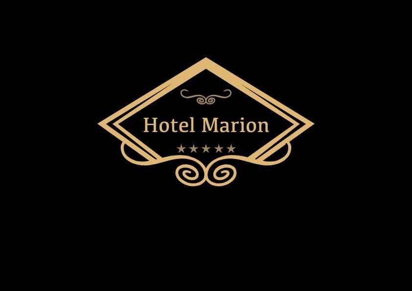 Kilpailutyö #199 kilpailussa Modern logo for a boutique hotel. Named Hotel Marion