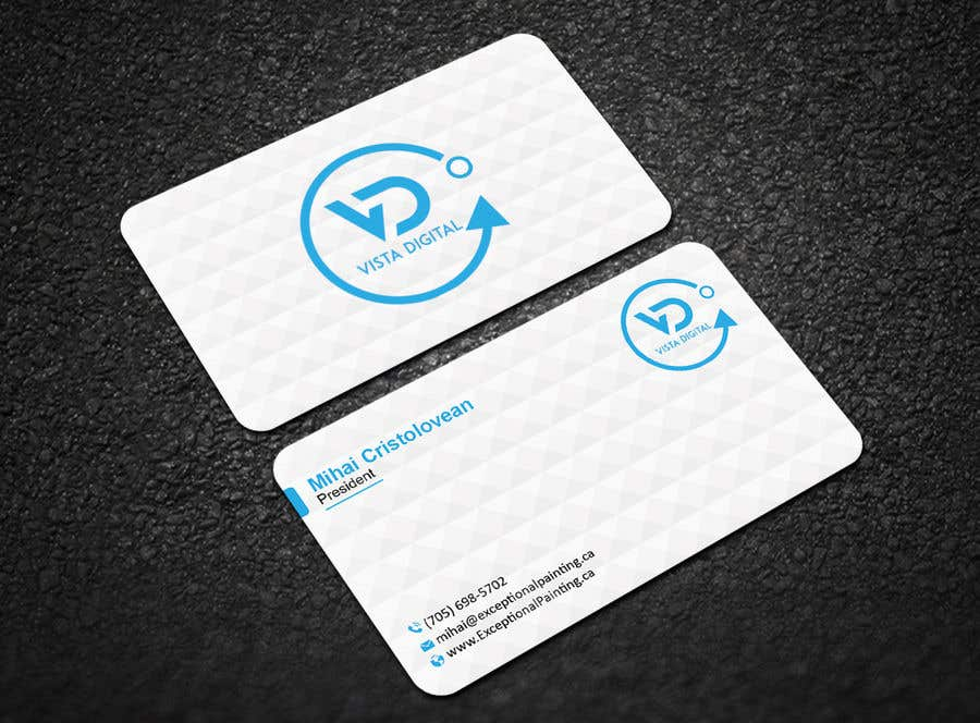 Contest Entry #128 for Design business cards for VistaDigital - Virtual tour specialists