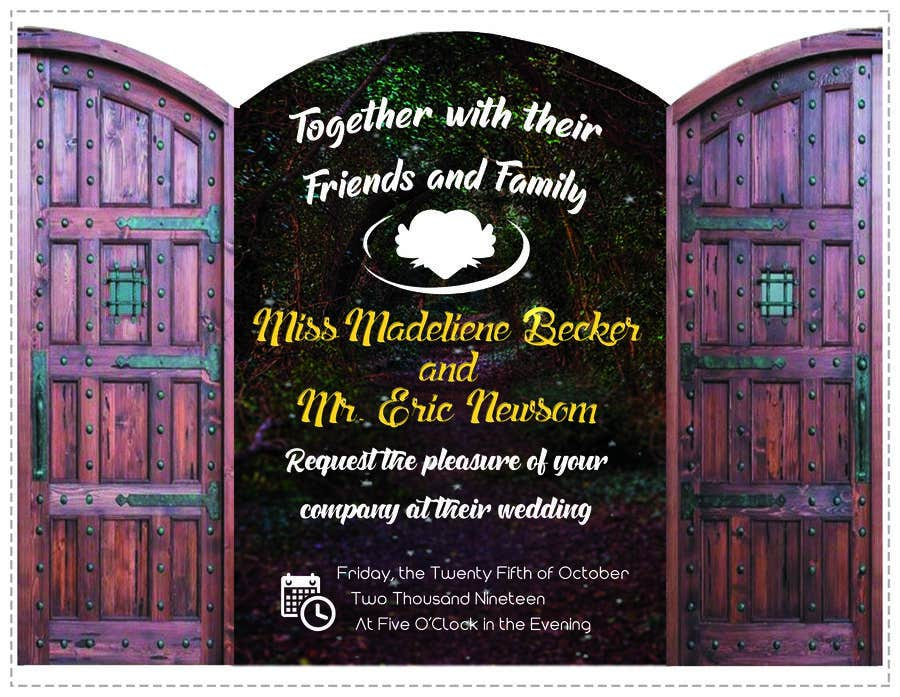 Contest Entry #18 for Design Wedding Invitation-Need Graphic Design Artist's Touch