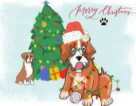 #20 for Christmas cards with comical mischievous boxer puppies . by sonalfriends86