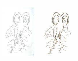 #78 for Need a line(brown) sketch of the animal Himalayan Ibex done, looking at it from behind by gabba13