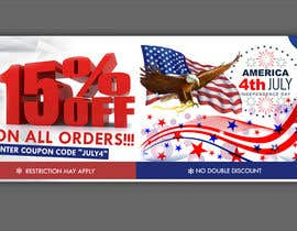 #163 for 4th Of july banner by firozreza153