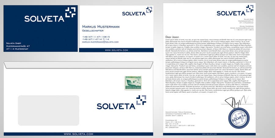 Contest Entry #58 for Letterhead, Envelopes, Business Cards and more for Solveta
