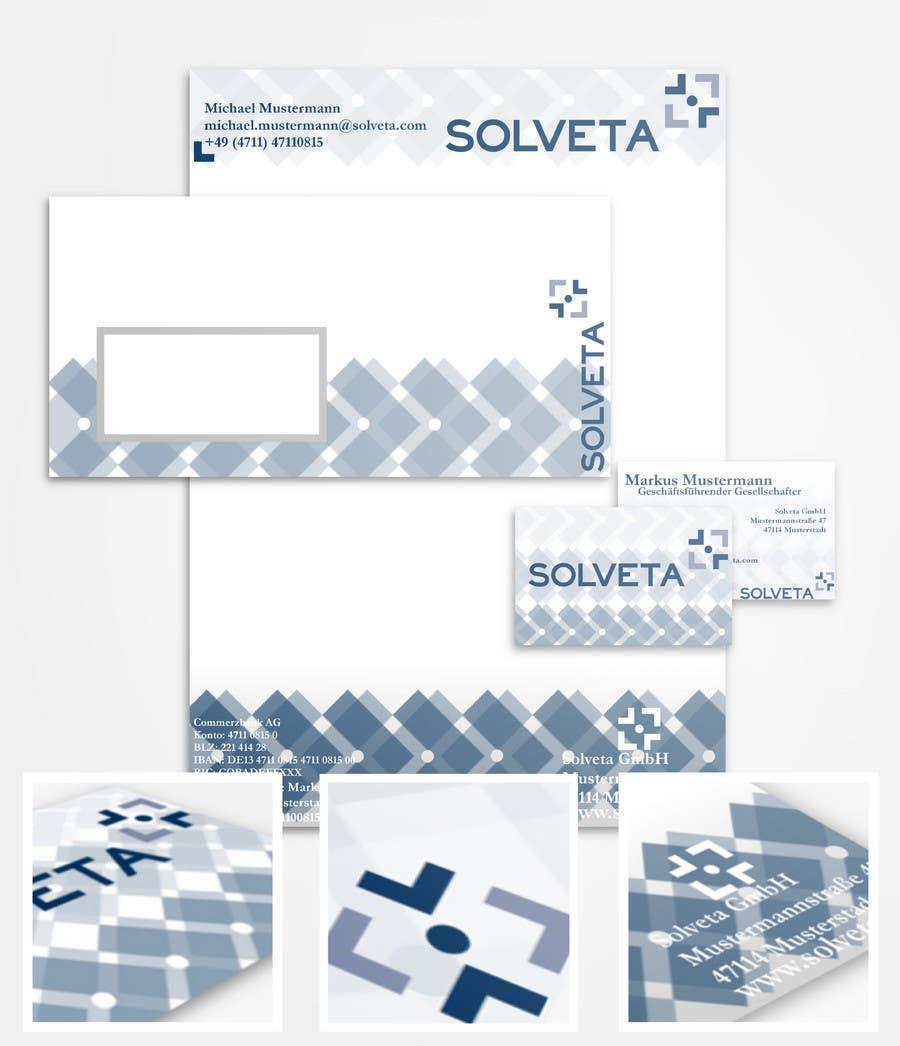 Kilpailutyö #                                        2                                      kilpailussa                                         Letterhead, Envelopes, Business Cards and more for Solveta