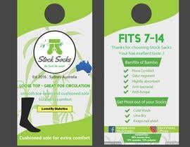 nº 14 pour Design a Hang Tag For Socks par tawrat16