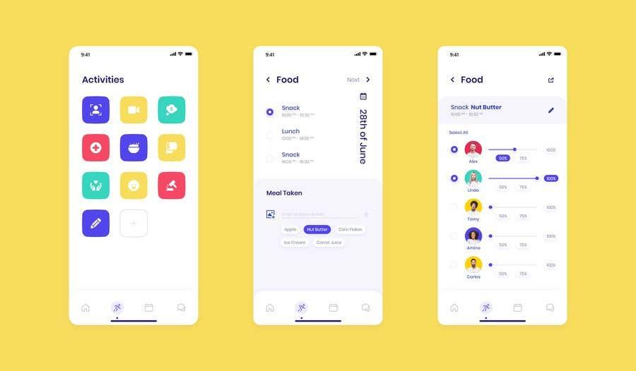 Конкурсная заявка №27 для Daycare Mobile App Design (only some screens)