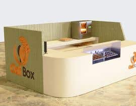 #30 untuk Design and render a small food space for a mall. oleh ECacc