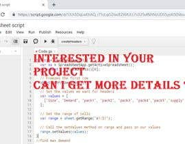 #3 for Create Gsheets script for pack size af deepakrawat3993