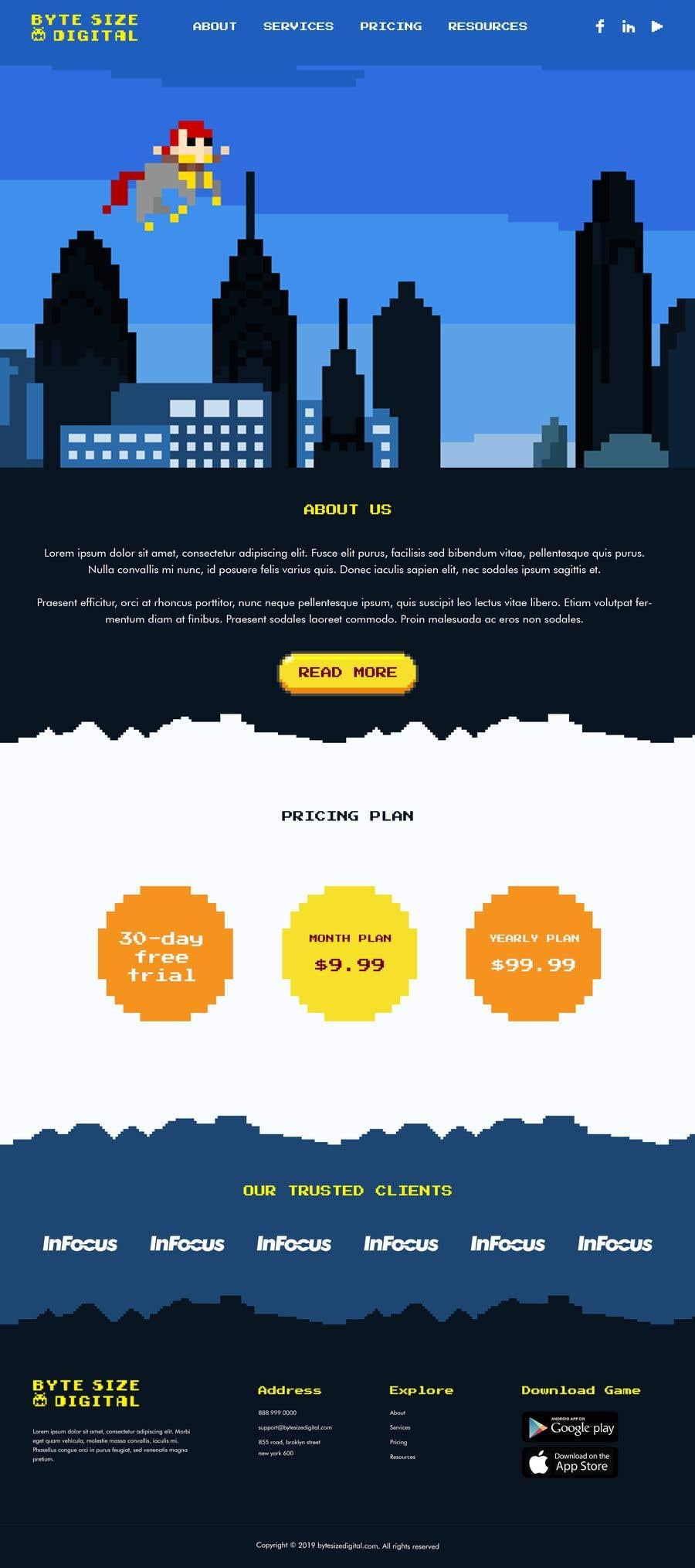 Bài tham dự cuộc thi #14 cho Byte Size HomePage