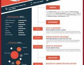 #16 para Creative design for resume por parvezahmadjoy