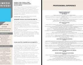 #8 para Creative design for resume por S1nqularity
