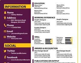 #4 para Creative design for resume por nurjahanakter4