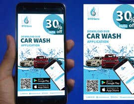 #4 for Building high professional poster for car wash mobile application by AdnanAich