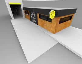 nº 33 pour Exterior design of a coffee kiosk combined with car wash par gunesmtl