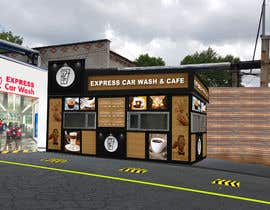 #31 for Exterior design of a coffee kiosk combined with car wash by jaybheda
