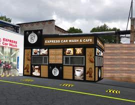 nº 31 pour Exterior design of a coffee kiosk combined with car wash par jaybheda
