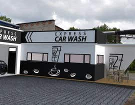 #30 for Exterior design of a coffee kiosk combined with car wash by kanclut