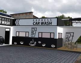 nº 30 pour Exterior design of a coffee kiosk combined with car wash par kanclut