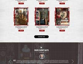 #18 for Home Page Mockup For Antique Store Website by nikil02an