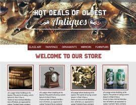 #29 for Home Page Mockup For Antique Store Website by meemmehemud