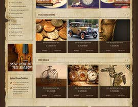 #25 for Home Page Mockup For Antique Store Website by mpromarketer