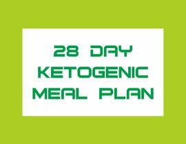 """#86 untuk create an ebook cover design for my """"28 Day Ketogenic Meal Plan"""" oleh luphy"""