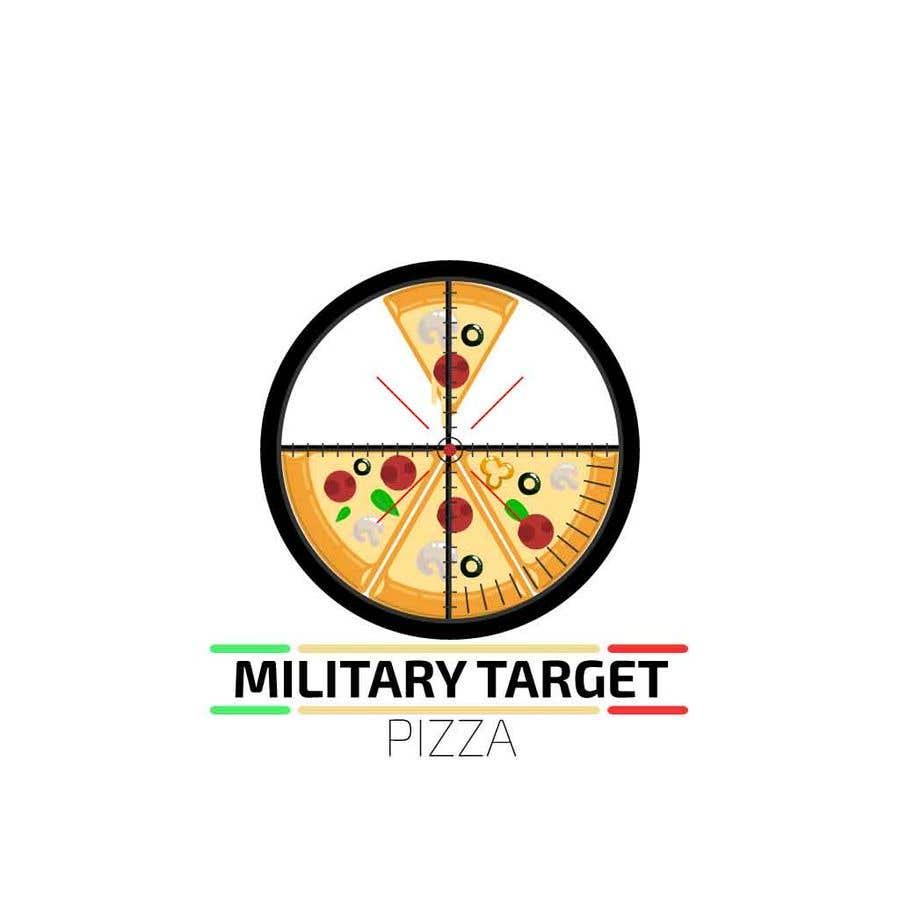 Конкурсная заявка №28 для Military target pizza logo