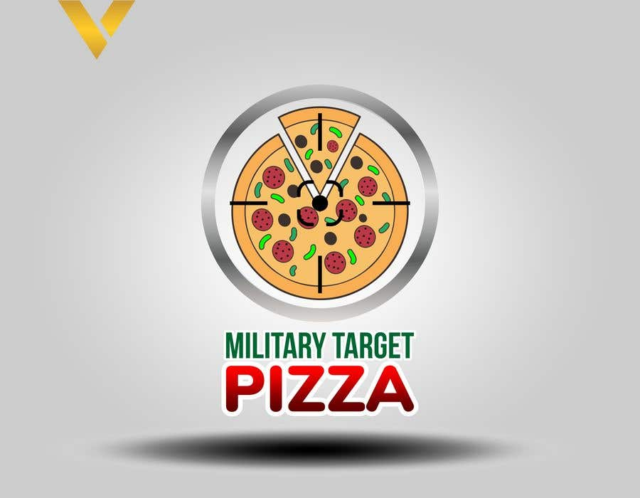 Конкурсная заявка №17 для Military target pizza logo