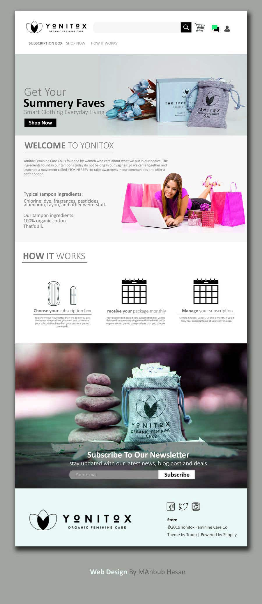 Entry #11 by chztechnology for Beautiful shopify design + ReCharge
