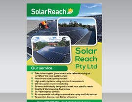 #95 for Design me a single page back & front advertisement pamphlet for my solar installation company af RABIN52