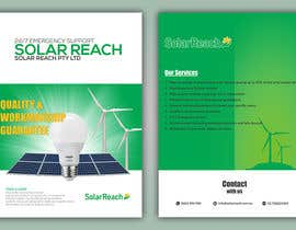 #91 for Design me a single page back & front advertisement pamphlet for my solar installation company af freelanceworldin