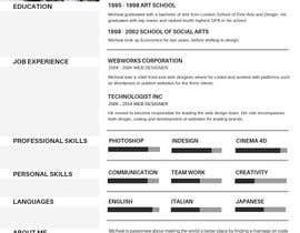 #57 for Update my Resume Design by SunainaSahi