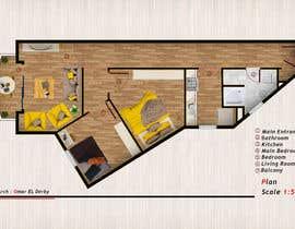 Nro 36 kilpailuun Re-design an apartment käyttäjältä OmarELDerby